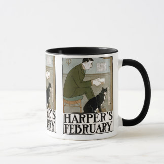 Vintage Art - Harper's February - Penfield Mug
