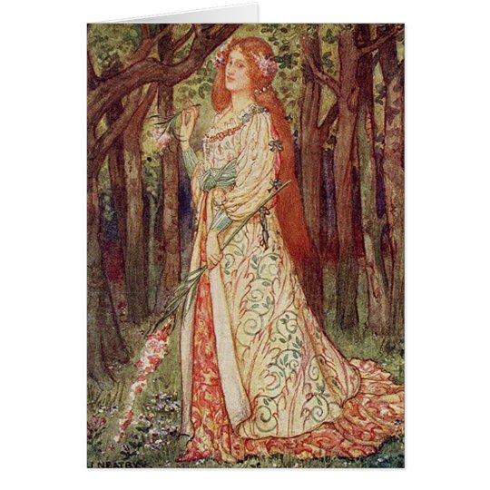 Vintage Art - La Belle Dame Sans Merci Card