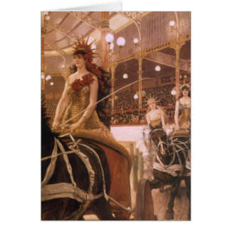 Vintage Art, Ladies of the Cars (Circus) by Tissot Card