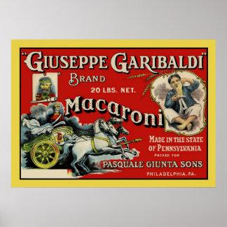 Vintage Art Macaroni Label Poster
