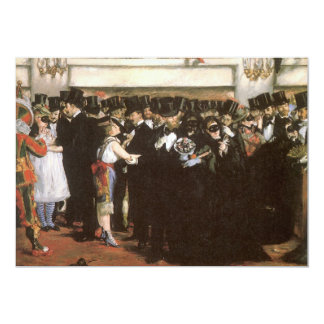Vintage Art, Masked Ball at the Opera by Manet Card