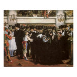 Vintage Art, Masked Ball at the Opera by Manet Poster