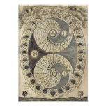 Vintage Art Moonchart - phases of moon Posters