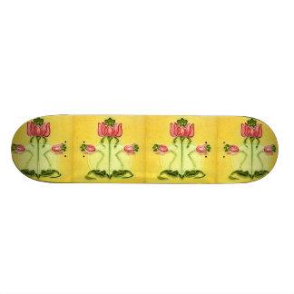 Vintage Art Nouveau Aged Ceramic Wall Tiles Board Skate Board