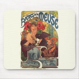 Vintage Art Nouveau Alphonse Mucha Mouse Pad