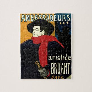 Vintage Art Nouveau Ambassadeurs, Toulouse Lautrec Puzzles