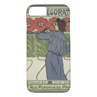 Vintage Art Nouveau, Artist Painting Poppy Flowers Case-Mate iPhone Case