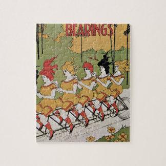 Vintage Art Nouveau, Bearings, Women on a Bicycle Puzzle