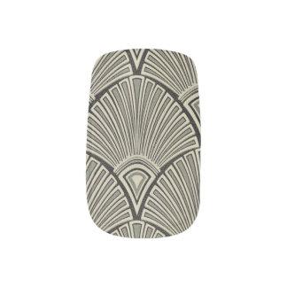vintage,art nouveau,beige,grey,art deco, french,ru minx nail art