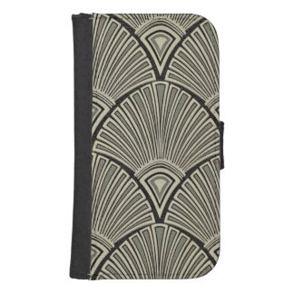 vintage,art nouveau,beige,grey,art deco, french,ru samsung s4 wallet case