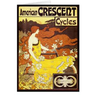 Vintage Art Nouveau Bicycle Ad Card