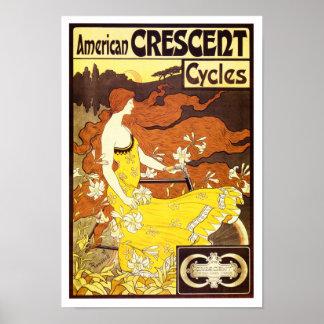 Vintage Art Nouveau Bicycle Ad Poster