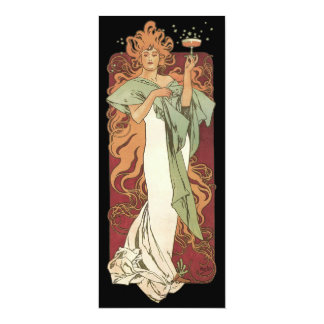Vintage Art Nouveau Birthday Party Invitation