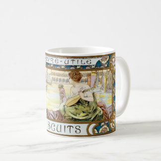 Vintage Art Nouveau Biscuit ad by Alphonse Mucha Coffee Mug