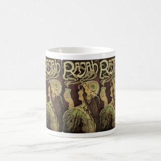 Vintage Art Nouveau Cafe Rajah, Woman Drinking Tea Coffee Mug