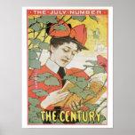 Vintage art nouveau Century magazine July