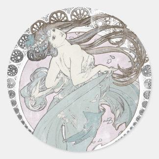Vintage Art Nouveau Classic Round Sticker