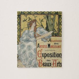 Vintage Art Nouveau, Exposition des Beaux Arts Puzzle