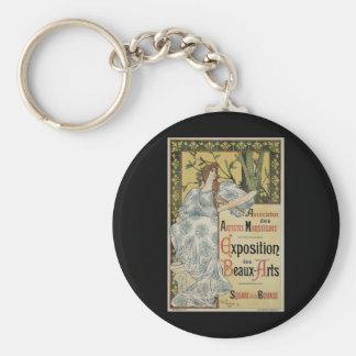 Vintage Art Nouveau; Female Artist and Palette Key Chains