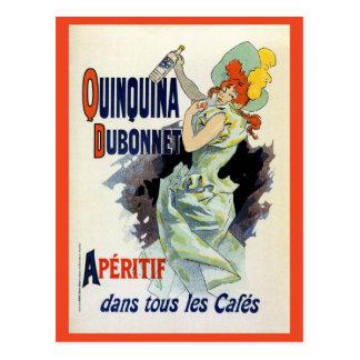 Vintage Art nouveau French apéritif ad Postcard