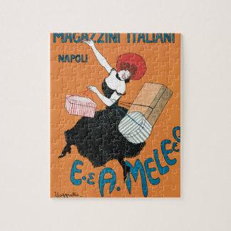 Vintage Art Nouveau, Italian Women Fashion Jigsaw Puzzle