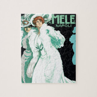 Vintage Art Nouveau, Italy Fashion and Fancy Women Jigsaw Puzzle