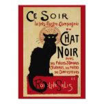 """Vintage Art Nouveau, Le Chat Noir 5"""" X 7"""" Invitation Card"""