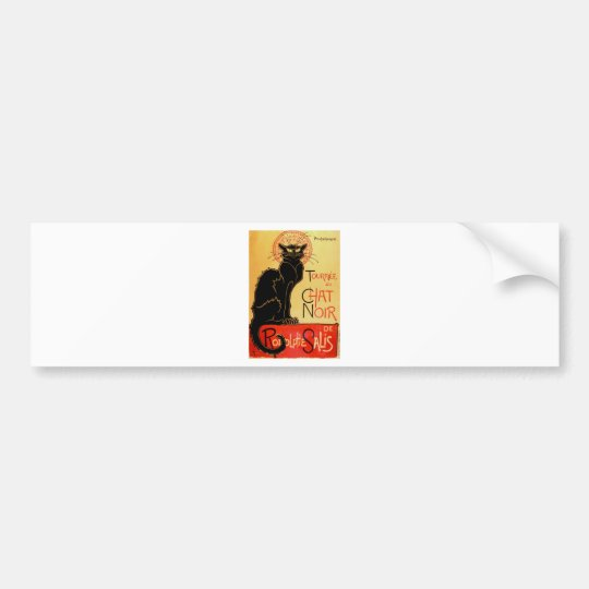 Vintage Art Nouveau Le Chat Noir Black Cat Bumper Sticker