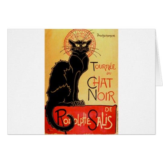 Vintage Art Nouveau Le Chat Noir Black Cat Card