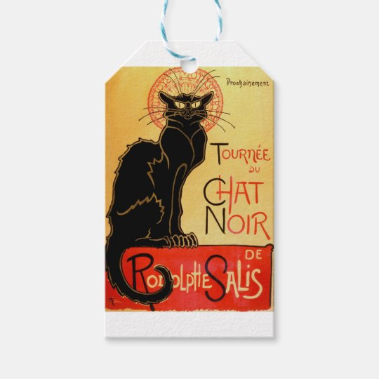 Vintage Art Nouveau Le Chat Noir Black Cat Gift Tags