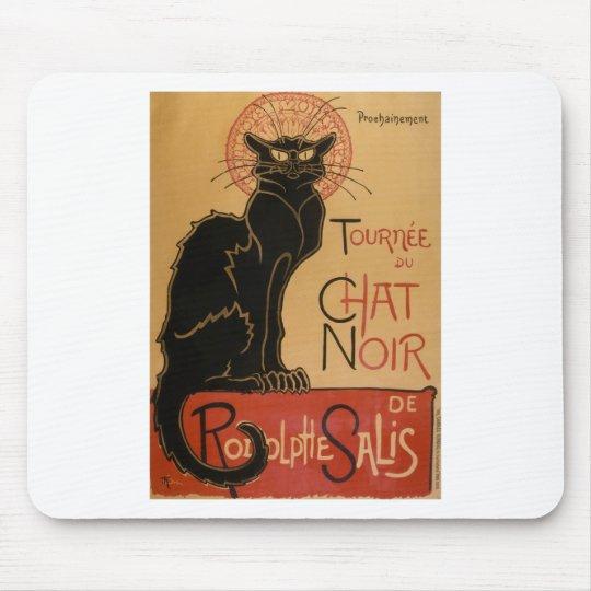 Vintage Art Nouveau Le Chat Noir Black Cat Mouse Pad