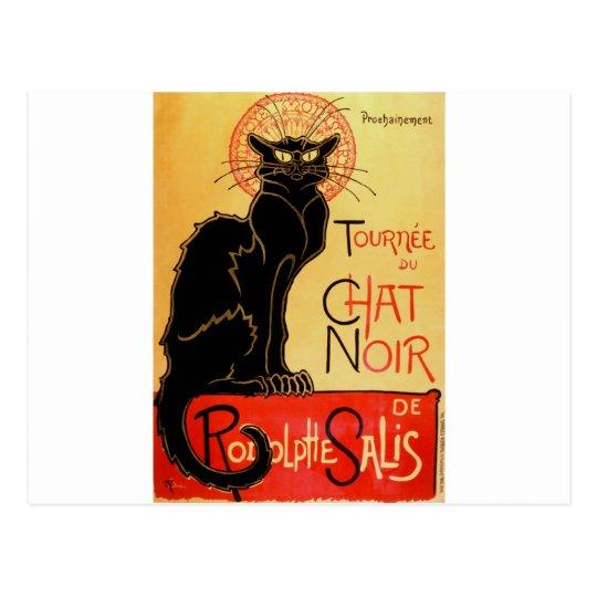 Vintage Art Nouveau Le Chat Noir Black Cat Postcard