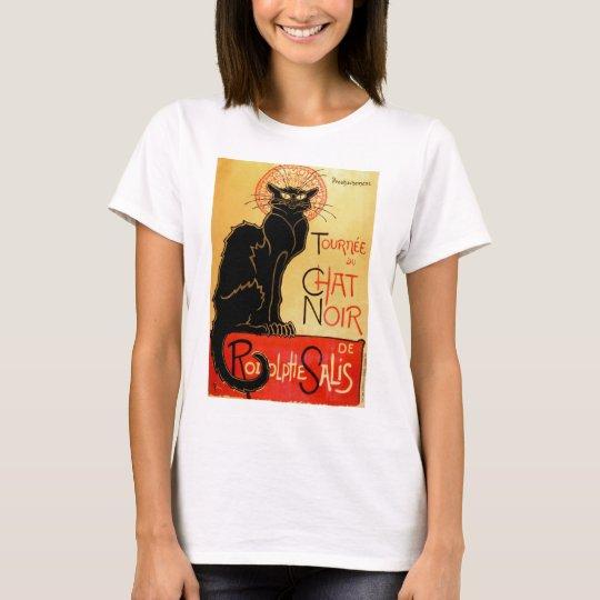 Vintage Art Nouveau Le Chat Noir Black Cat T-Shirt