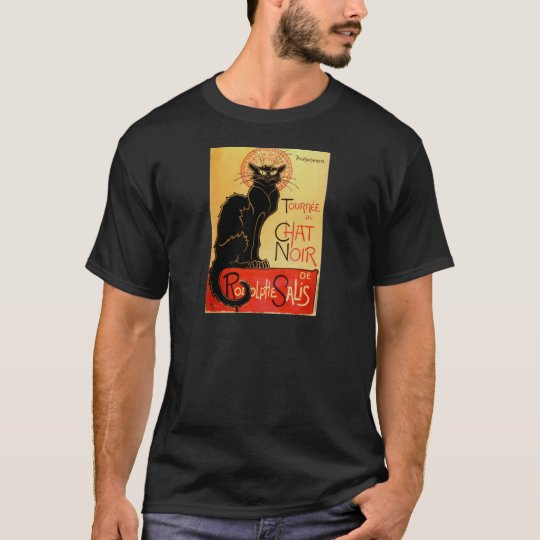 Vintage Art Nouveau Le Chat Noir Black Cat T-Shirt