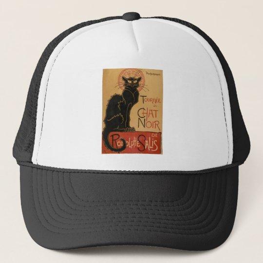Vintage Art Nouveau Le Chat Noir Black Cat Trucker Hat