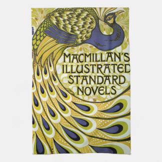 Vintage Art Nouveau, Macmillan's Peacock Feather Kitchen Towel