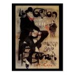 Vintage Art Nouveau Man Drinking Beer American Bar Post Cards