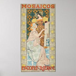 Vintage Art Nouveau Mosaicos Escofet-Tejera y CA Poster