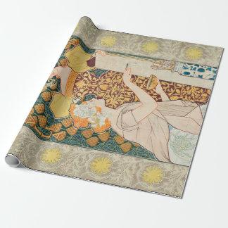 Vintage Art Nouveau Mosaicos Escofet-Tejera y CA Wrapping Paper