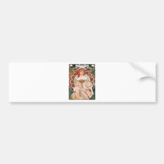 Vintage Art Nouveau Mucha Print Bumper Sticker