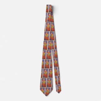 Vintage Art Nouveau, New York Sun Newspaper Tie