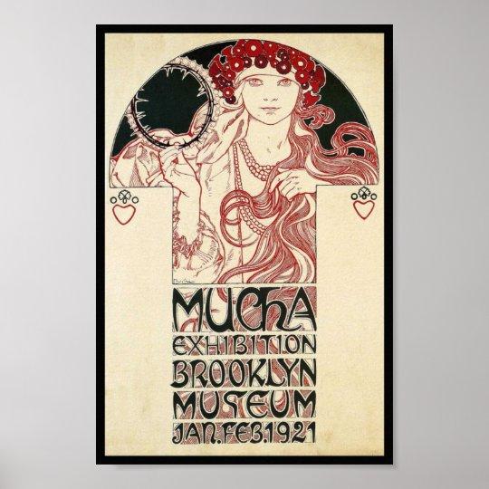 Vintage Art Nouveau NY Exhibition Poster Print