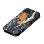 Vintage Art Nouveau Redhead Woman Gladiator Cycles iPhone 4 Covers