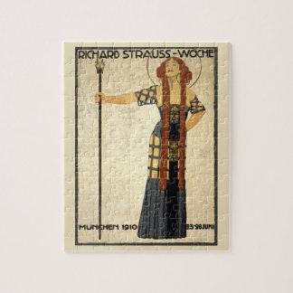 Vintage Art Nouveau Richard Strauss-Woche. Munich Jigsaw Puzzle