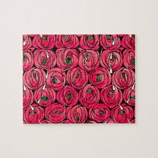 Vintage Art Nouveau Roses Jigsaw Puzzle