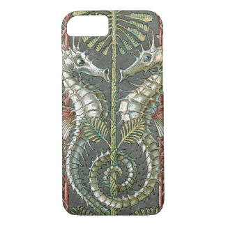Vintage Art Nouveau, Seahorses and Seaweed iPhone 8/7 Case