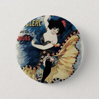 Vintage Art Nouveau, Spanish Flamenco Dancer 2 Inch Round Button