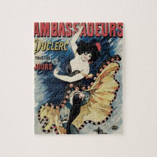 Vintage Art Nouveau, Spanish Flamenco Dancer Jigsaw Puzzle