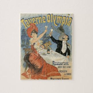 Vintage Art Nouveau, Taverne Olympia Restaurant Jigsaw Puzzle