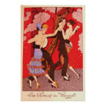 Vintage Art Nouveau ~ The Fury of Tango Poster